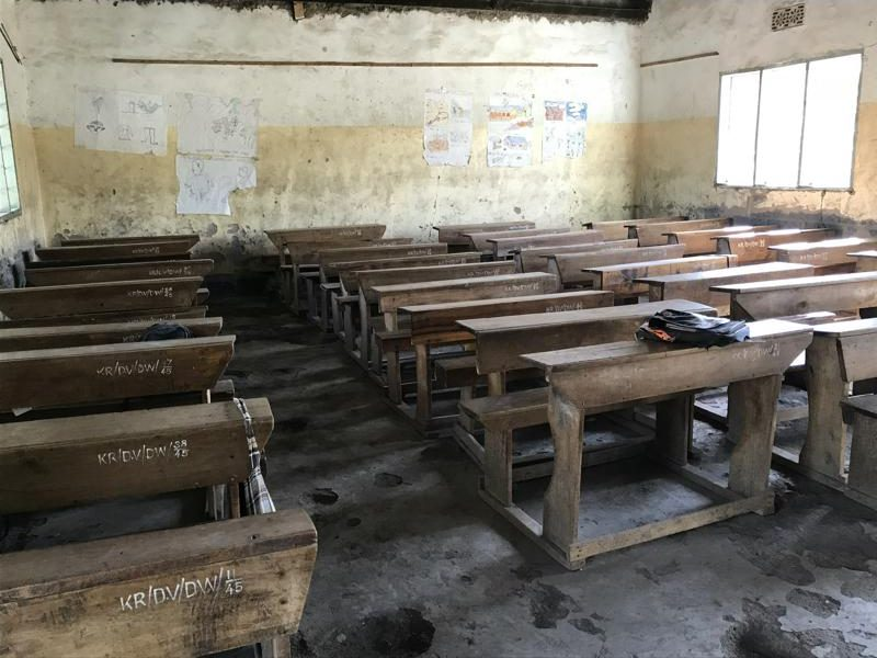 Klassenzimmer einer staatlichen Schule